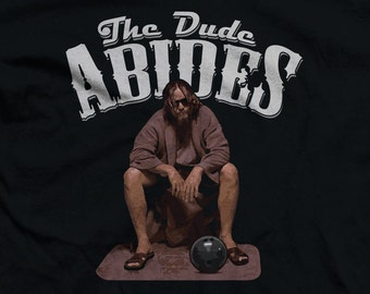 The Dude Abides - Line Art Funny Big Lebowski Fan Shirts