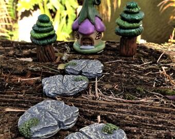 Miniature Slate Fairy Path, Fairy Garden Landscape