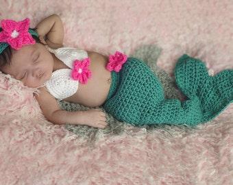 Mermaid Tail Outfit - Halloween Baby Mermaid Costume - Mermaid Tail Blanket - Halloween costumes - Newborn mermaid costume
