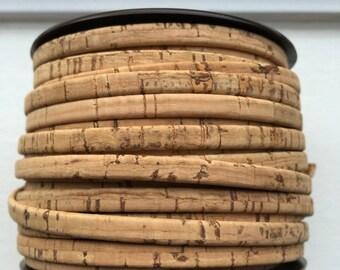 "7""  5mm Flat Natural Portuguese Cork,"