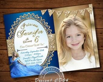 Cinderella Invitation & Thank you, Cinderella Party, Birthday Invitation, Thank you card, Cinderella Theme Printables, Cinderella