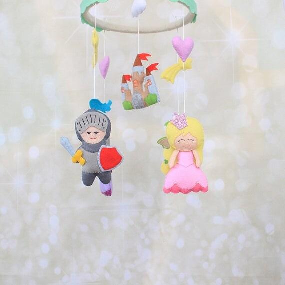 Items similar to baby mobile sleeping beauty nursery for Princess crib mobile