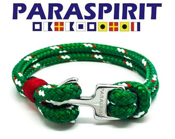 "Paraspirit ""CRUISER"" Nautical Rope Bracelet with Stainless Steel Anchor Clasp"
