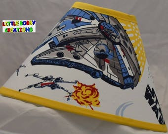 Star Wars Pottery Barn Kids R2d2 C3po Fabric Lamp Shade 10