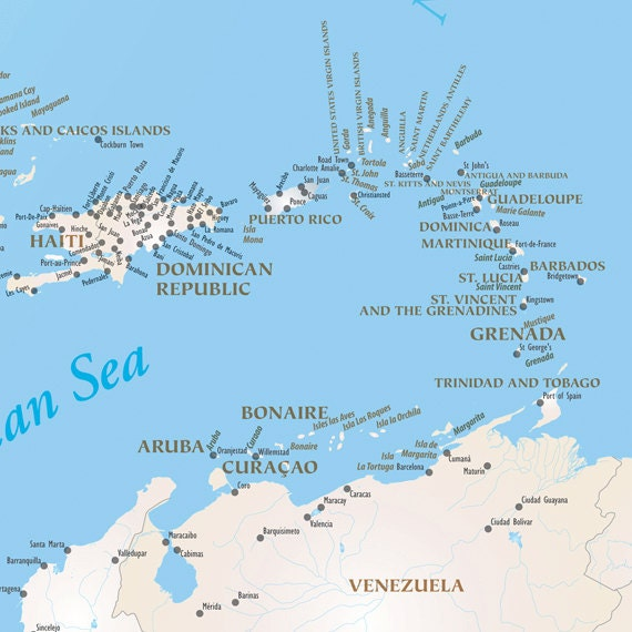 US And Caribbean Travel Map Magnetic Map Option Push Pin - Us magnetic travel map