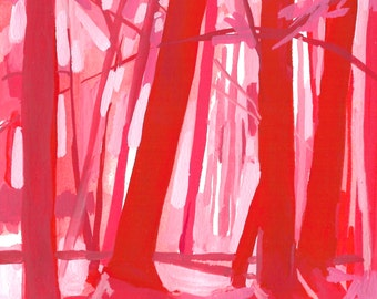Shadows - Archival Print, modern tree art, nature painting