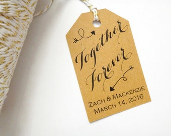 Personalized Wedding Thank You Tags--Set of 50--Wedding Favor Tags, Custom Thank You Tags, Custom Wedding Thank You Tags