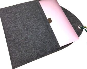 "grey felt protection for MacBook 12"", soft cover for MacBook, 12"" laptop case, Scandinavian Design, natural grey MacBook 12"", laptop cover"