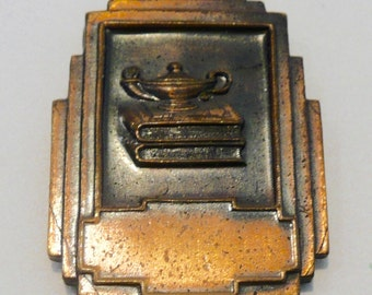 Art Deco 1939 Declamation Award Metal