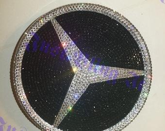 Swarovski Crystal Bling Mercedes Front Grill Emblem with Lens