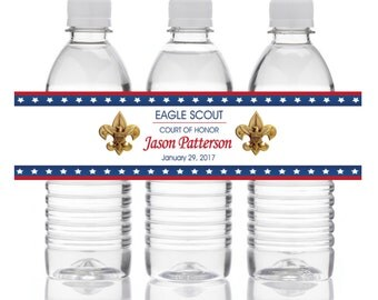 Eagle Scout Water Bottle Labels