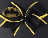 3in. Glitter Batman Superhero Cheer Bow
