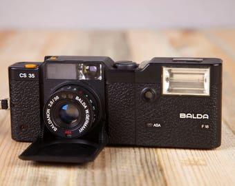 Film camera Balda CS35 . Working Film Camera. Vintage Film Camera. Balda Camera. Lens Baldanon f2.8/38mm