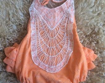 3t vintage sari ruffle bum sun suit