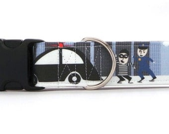 Not So Smooth Criminal Pet Collar (Martingale, Buckle, or Tag)