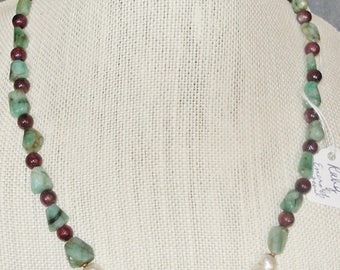 Natural EMERALDS, RUBIES and PEARLS