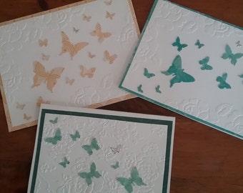 Handmade butterfly blank cards