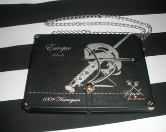 Gasparilla Cigar Box Purse, Cigar box Handbag, Tampa, Authentic