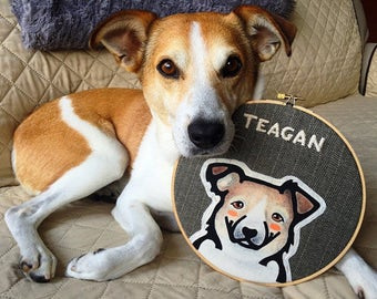 Custom Dog Portrait - Personalized Pet - Dog Portrait - Pet Portrait - Custom Pet Portrait - Gift for Pet Lover