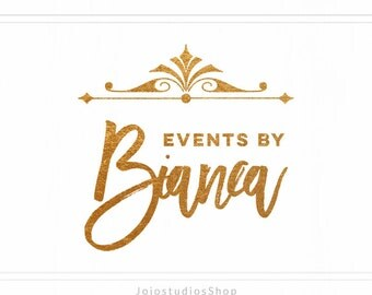ON SALE Business Premade Event Logo with Gold Layer, Sale Items, Gold Logo Design, Logo For Small Business, Logo for Real Estate,