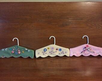 baby child hand stitched closet hangers
