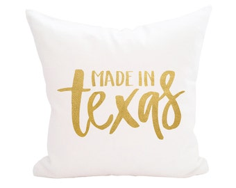 SALE! Made in the Texas Throw Pillow Cover