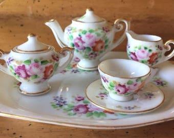 Vintage Chubu China painted doll tea set
