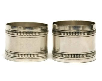Pair of Art Deco Silver Plate French Napkin Rings.