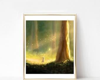 Golden Forest Print