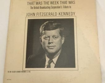 "BBC Telecast Tribute ""That Was The Week That Was""  to John Fitzgerald Kennedy"