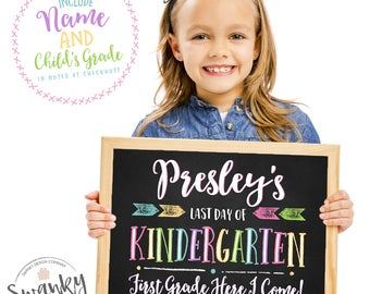 Last Day of School Sign, Printable Last Day of School Sign, Last Day of School Chalkboard Sign, Last Day, Kindergarten Sign, Chalkboard Sign
