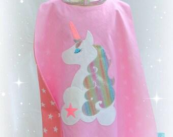 Rainbow unicorn superhero cape and mask set