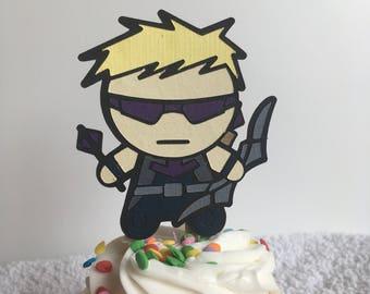 Marvel's Hawkeye Cupcake Topper
