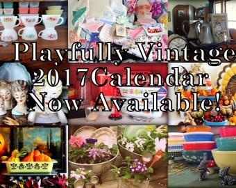 Playfully Vintage 2017 Wall Calendar