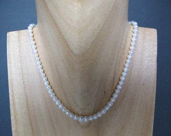 White Freshwater Pearl Adjustable Gold Choker
