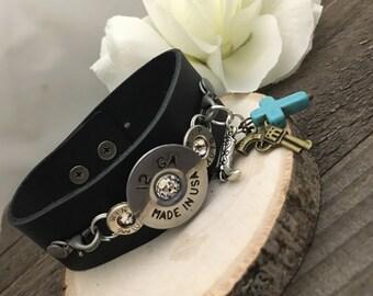 Bullet bracelet, bullet jewelry, cuff bracelet, 12 gauge bullet cuff bracelet, bullet cuff bracelet