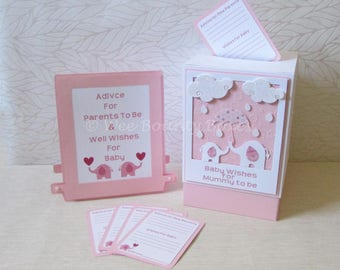 Baby Elephants, Baby Shower Message Box Set