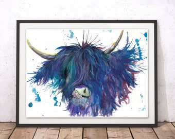 Cow Wall Art highland cow print large wall art photography print best