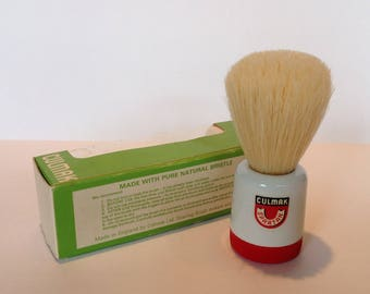1950s Culmak Spartan Pure Bristle Shaving Brush. Boxed/Unused.