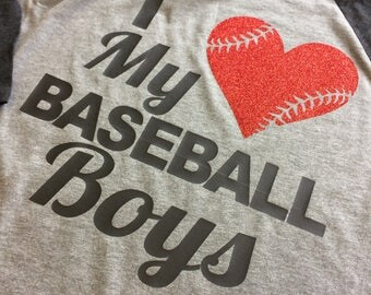 I Love my baseball boys shirt