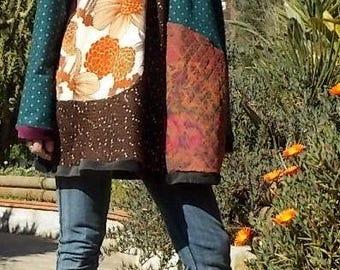patchwork swing dress