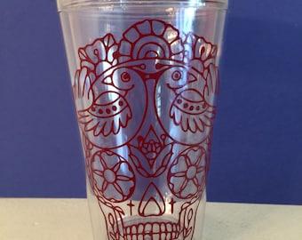 Sugar skull, Dia de muertos cup, Sugar skull cup, Sugar skull travel cup, Tumbler Day of the dead