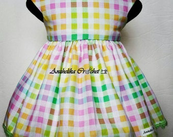 Plaid Baby Dress, Baby Dress, Baby Easter Dress