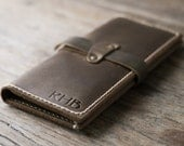 Leather iPhone 6 PLUS Wallet PERSONALIZED Clutch Case Rustic Design with Our Signature Hand-Stitching by JooJoobs [066]