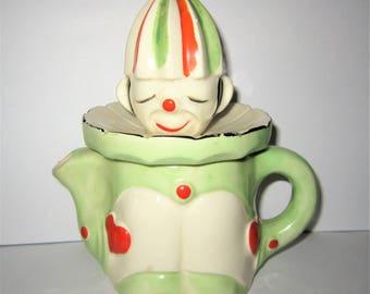 Vintage Green and Orange Clown Juicer Reamer Made in Japan