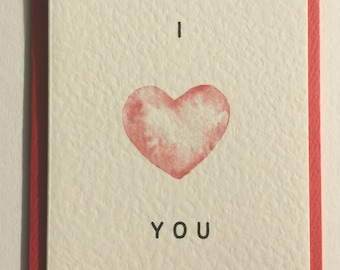 """Anniversary, Valentine's, Romantic Card """"I Love You Inside Out"""""""