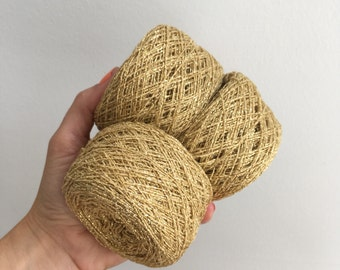 Vintage metallic gold yarn for weaving