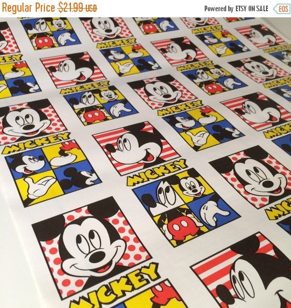 ON SALE Disney Mickey Mouse Disney Self Adhesive Drawer Liner, 1990 New Old Stock, ONE Roll