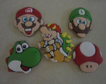 12 Super Mario Fan Art Cookies