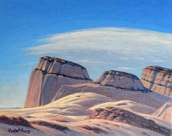 Utah 'Reef Skyline' - landscape painting - Southwest decor -  plein air - National Park art - western decor - turquoise - desert painting